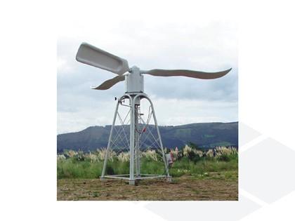 Aerogenerador eólico de eje vertical IDM para entornos urbanos